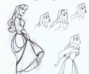 aurora, sketch, and sleeping beauty image