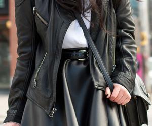 black, girl, and skirt image