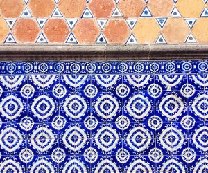 art, blue, and geometry image