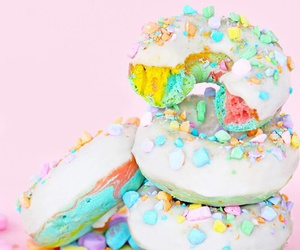 donuts, pastel, and sweet image