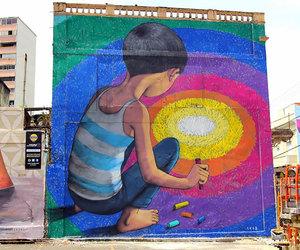 art, colors, and little boy image