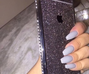 nails, iphone, and apple image