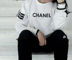 black, chanel, and outfit image