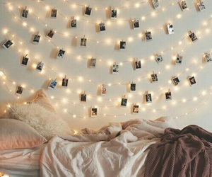 light, room, and bedroom image