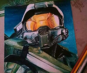 art, videogames, and master chief image
