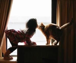cat and child image