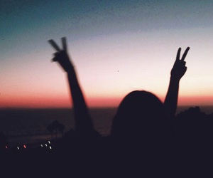 sunset, grunge, and photography image