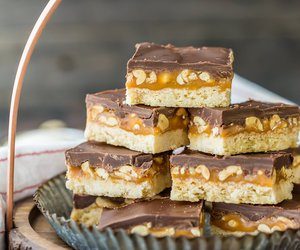 bars, caramel, and chocolate image