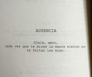 love, frases, and absence image