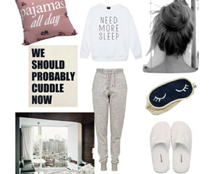 clothes, fashion, and sleep image