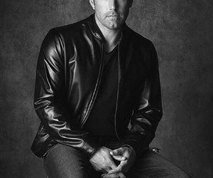 Ben Affleck, guys, and black and white image