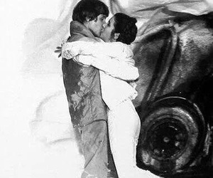 black & white, carrie fisher, and star wars image