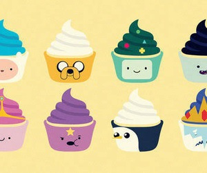 adventure time, cupcake, and JAKe image