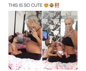beautiful, baby, and mom image