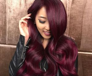 red, colour, and hair image