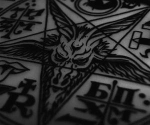 satan, satanism, and pentagram image