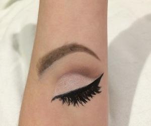 arm, eyeliner, and eyeshadow image