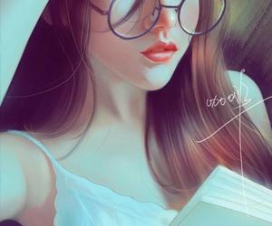 art, beautiful girl, and illustration image