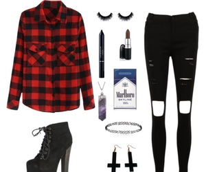 beauty, cigarettes, and outfit image