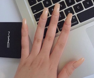 nails, girl, and mac image