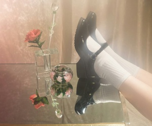 aesthetic, black, and maryjanes image