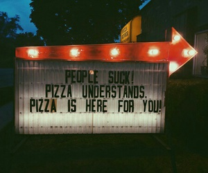 life, pizza, and quote image