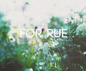 flowers, rue, and hunger games image