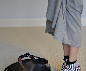 black and white, celine, and jeffrey campbell image
