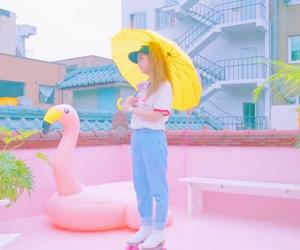 girl, pastel, and kisum image
