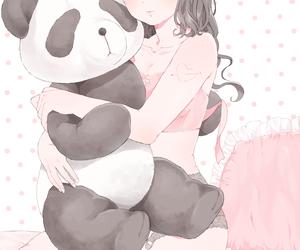 anime, girl, and panda image