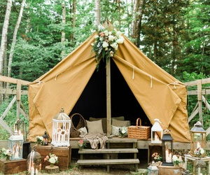 camp, decor, and nature image