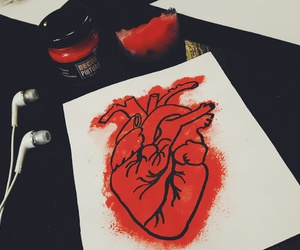 draw, music, and red image