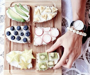 breakfast, fruit, and avocado image