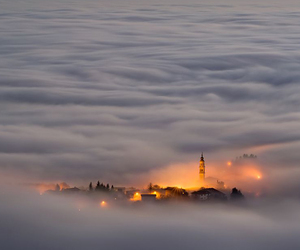 clouds, italy, and light image