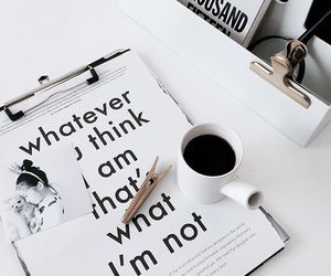 coffee, quotes, and white image