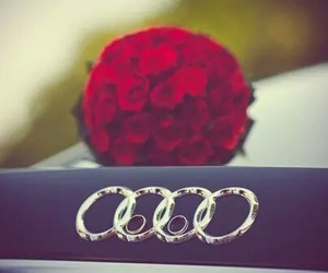 audi, wedding, and red image