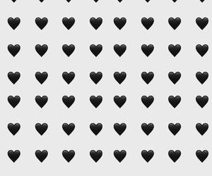 black heart, pattern, and emoji image