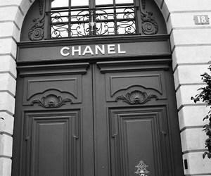 chanel, door, and black image