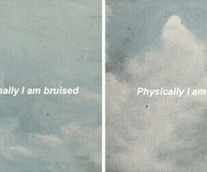 bruised, pained, and emotional image