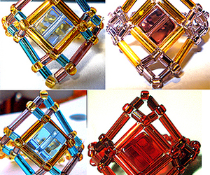 beads, cube, and tutorial image