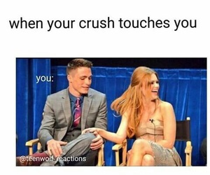 crush, teen wolf, and funny image