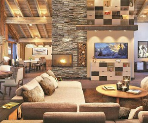 chalet, chaud, and relax image