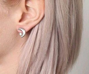 alternative, earings, and moon image