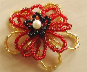 beads, flower, and tutorial image