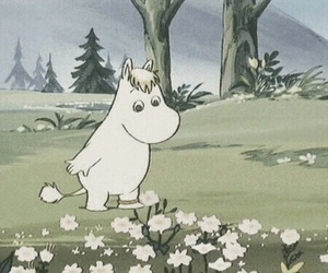 moomin and flowers image