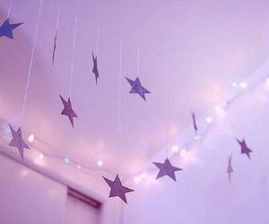 stars, light, and pink image