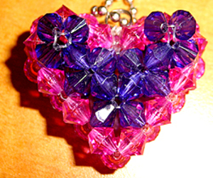 beads, heart, and tutorial image