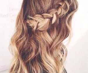 blonde, braid, and girls image