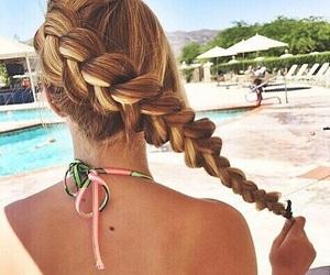 beach, braids, and gorgeous image
