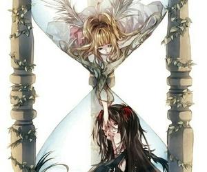 anime, yin yang, and hourglass image